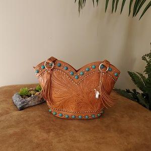 American West Leather Shoulder Bag